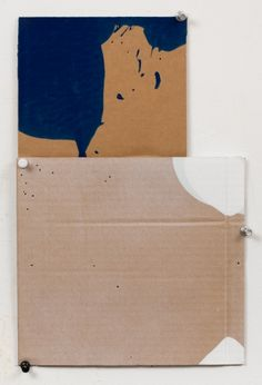 """George Negroponte's Clearing (Enamel, acrylic and spray paint on cardboard, 12 1/2"""" x 8 1/4"""") at Anita Rogers Gallery http://www.anitarogersgallery.com/exhibitions/george-negroponte"""
