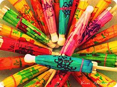Umbrellas by Kim Naumann - Curiouser & Curiouser Designs #EasyNip