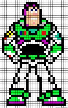 Buzz Lightyear Toy Story perler bead pattern