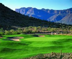 Fold Canyon Ranch, Dinosaur Course - Located in Apache Junction, one of the best golf course in Arizona. It's a public course! If you enjoy golf, you'll be challenged while enjoy the spectacular scenery. Visit www.guestmob.com for nearby hotels.