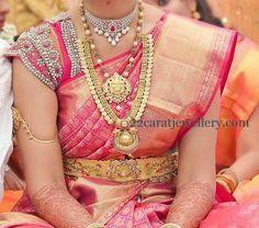 Jewellery Designs: Kaumala with Pearls Chain