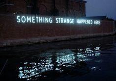 Image via We Heart It https://weheartit.com/entry/163498648 #blue #darkblue #grunge #indie #lightblue #lights #ocean #strange