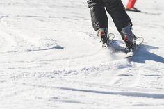 Skiing Snow And Ski Close Up Free Stock Photo
