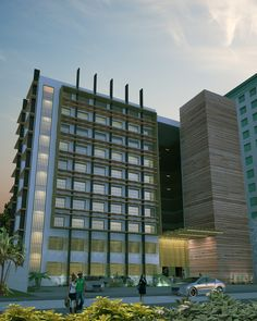 Presentation for History of Architecture project (a 10-storey modern Filipino building). 3ds max 2012+vray 2.2+PS CS4 Render time 9 hrs 2 mins.