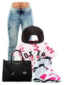 """Back to Back-Drake"" by pinkswagg15 ❤ liked on Polyvore featuring 10.Deep, MICHAEL Michael Kors, Retrò and RVCA"