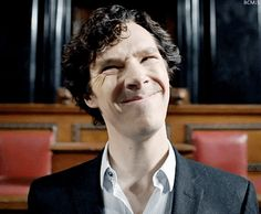 "The ""not you"" face. Oh Sherlock... how I love you... snarky, persnickety, and arrogant as you are."