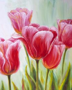 Mill St. Brew Pub August 30, 2015, tulips painting