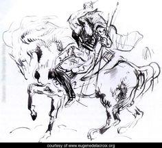 Sketch for Attila - Eugene Delacroix - www.eugenedelacroix.org