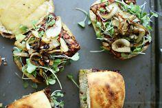 Vegetarian BBQ Tempeh Cheeseburgers by yummymummykitchen #Vegetarian #Tempeh #Cheeseburger #yummymummykitchen
