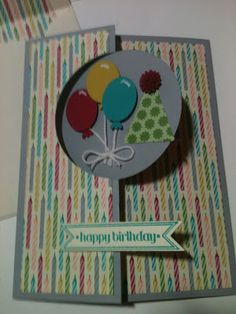 Stampin' in the Sun!: Happy Birthday Balloons with the Circle Thinlit