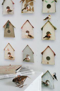 Birdhouse wallpaper from Studio Ditte