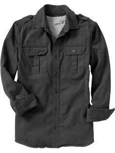 Men's Distressed Twill Shirts