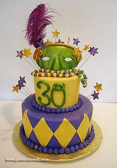 mardi gras cake