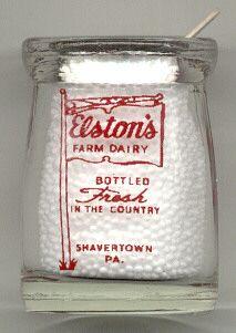 Elston's Dairy Mini Creamer Shavertown PA | eBay Old Milk Bottles, Vintage Restaurant, Mason Jars, Dairy, Canning, Cream, Mini, Glass, Ebay