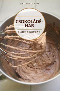 Gyors csokoládéhab készítése – Tortaiskola Cookie Cups, Cake Tutorial, Sweet And Salty, Chocolate Ganache, Relleno, No Bake Cake, Mousse, Icing, Peanut Butter