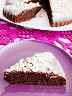 Лесен какаов кекс с масло и пудра захар