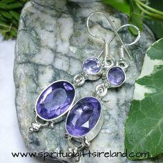 Water Sapphire Iolite Earrings