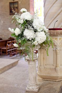 Love these stands for church flowers