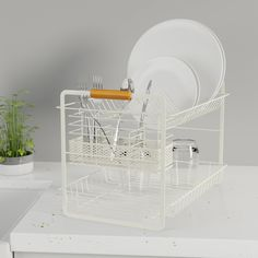 Plate Racks, Farmhouse Kitchen Decor, Bamboo, Sink, Plates, Cream, Tableware, Modern, Furniture