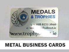 PROFESSIONAL Aluminium Metal BUSINESS CARDS Membership Cards Loyalty NoSETUP FEE