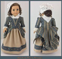 Finished another 18th Century gown! #ag #agig #agdoll #americangirldoll #Americangirlfan #americangirdolls #joy2everygirl #pixiefaire