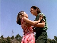 Tommy and Kimberly from Power Rangers.  My very first favorite TV couple.  They're still pretty cute, even if their relationship was really tame and consisted of a just a few innocent pecks on the lips.  When I was 8 that was heavy stuff.  Haha.