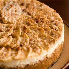 Pastel de queso con manzana @ allrecipes.com.mx