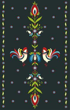 22 Ideas Wallpaper Art Painting Patterns For 2019 Folk Art Flowers, Flower Art, Folk Embroidery, Embroidery Patterns, Painting Patterns, Art Patterns, Painting Art, Polish Folk Art, Scandinavian Folk Art