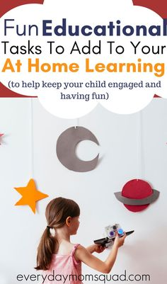 These at home educational activities are perfect for your kids in pre-k and elementary school. A fun way to make learning and remote learning fun and interactive so they don't get burnt out and bored. #athomeeducationalactivites #remotelearningactivities #kidseducation #learningactivitiesforkids #educationalactivities Home Learning, Learning Through Play, Fun Learning, Teaching Kids, Educational Activities For Kids, Learning Resources, Preschool Activities, Emotional Child, School Closures
