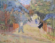 "Pablo Felipe Villegas Mañé ""Parque en Arlés"" Óleo sobre tela  Homenaje a Vincent Van Gogh 40 x 51 cm.  http://www.portondesanpedro.com/ver-producto.php?id=12398"