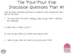 Discussion questions for pout pout fish plus link to utube video sond Ocean Activities, Speech Activities, Language Activities, Classroom Activities, Speech Language Therapy, Speech And Language, Speech Therapy, Phonics Reading, Reading Comprehension