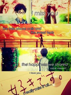 Anime: Shigatsu wa kimi no uso// Your lie in april Sad Anime Quotes, Manga Quotes, Sad Quotes, Inspirational Quotes, Heartbreak Quotes, Hero Quotes, Heartbroken Quotes, Movie Quotes, Miyazono Kaori