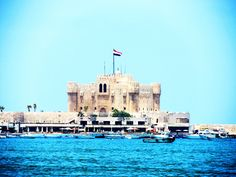 Qaitbay Fort Overlooking the Eastern Harbour of Alexandria www.egypt.travel/attraction/index/qaitbay-fort