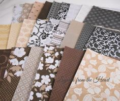 Colorbok cafe 6x6 SAMPLER Pack 106 - designs colored patterns for scrapbooking, collage, cards, crafts cocoa coffee brown black white cream