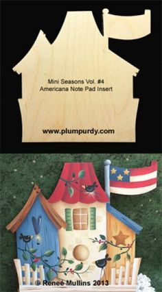 Americana Note Pad Insert (WOOD) Pintura Country, Arte Country, Country Crafts, Painting Words, Tole Painting, Fabric Painting, Country Primitive, Creative Crafts, Diy Crafts