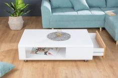 Konferenčný stolík Beckett 110 cm biely / dub | Estilofina Coron, Modern, Table, Furniture, Home Decor, Trendy Tree, Decoration Home, Room Decor, Tables