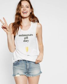Some days were meant for leisure. Especially Sundays. This soft burnout tank asks you to invite your BFFs over to break in the new waffle maker and break out the mimosas until the sun sets. Yes.