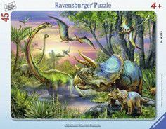 Ravensburger puzzle frame - dinosaurs at dawn (30-48 τεμ.)