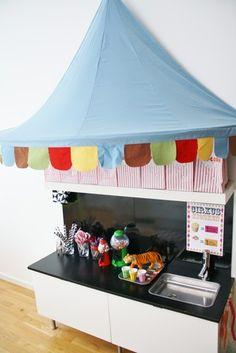 Circus party kiosk- i like the awning