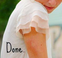 DIY: layered flutter sleeves