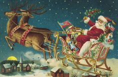 Vintage Photos Of Christmas In The 1950s - Christmas Nostalgia   Beautifully illustrated post cards.