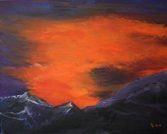 "Saatchi Online Artist Roswitha Schablauer; Painting, ""Sunset"" #art Sunset Art, Saatchi Online, Saatchi Art, Original Paintings, Art Prints, Canvas, Artist, Landscapes, Reading"