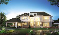 แบบบ้าน WA-955, บ้าน 2 ชั้น, ห้องนอน 4 ห้อง, ห้องน้ำ 4 ห้อง, ที่จอดรถ 3 คัน, พื้นที่ใช้สอย 512 ตารางเมตร, ขนาดที่ดิน 192 ตารางวา, กว้าง 24 เมตร, ยาว 32 เมตร
