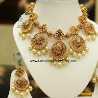 Chand Balis Antique Necklace Earrings
