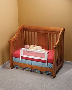 A Kidco Convertible Crib Rail and a New Mini Crib Mattress Can Breathe the Life of Your Convertible Mini Crib…Literally. Kids Bedroom Furniture, Bedroom Decor, Budget Bedroom, Master Bedroom, Furniture Ideas, Bedroom Ideas, Wall Decor, Baby Furniture, Nursery Decor