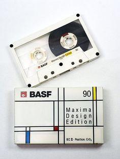 BASF Cassette Tape Crafts, Vhs Cassette, Casette Tapes, Recording Equipment, Audio Equipment, Vintage Graphic Design, Retro Design, Mondrian, Radios