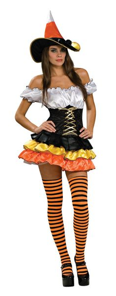 Candy Corn Sexy Witch Costume - Mr. Costumes