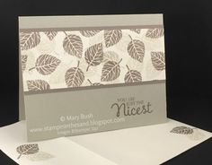 Stampin' in the Sand: Card: Thoughtful Branches Neutral Leaves