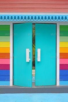colorful door => a Good idea for Pediatric Clinic