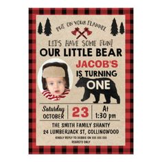 Cute pink easter birthday party egg hunt paper plate individual photo lumberjack 1st birthday party invitation negle Choice Image